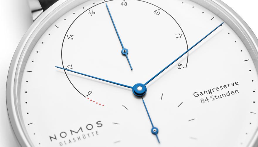 ノモス ラムダ グラスヒュッテ時計産業175年