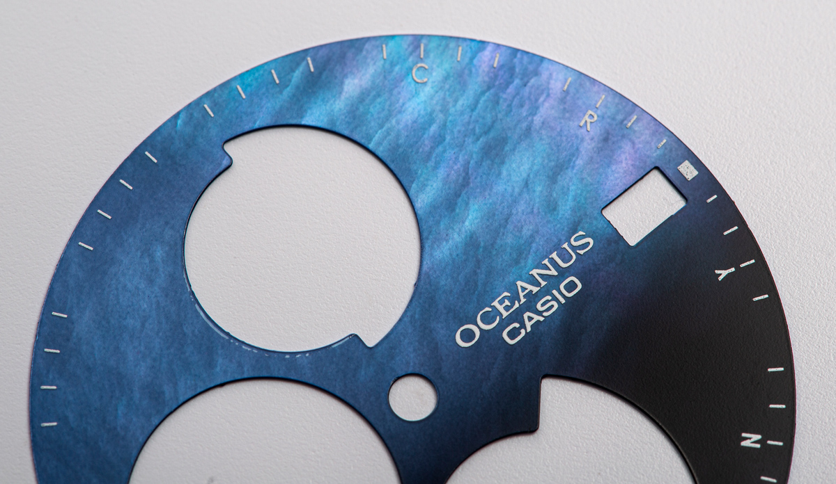 オシアナス 文字盤