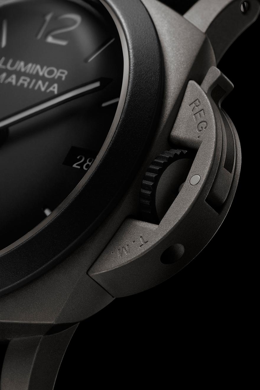 ルミノール マリーナ 44mm – ギヨーム・ネリー エディション,リュウズプロテクター