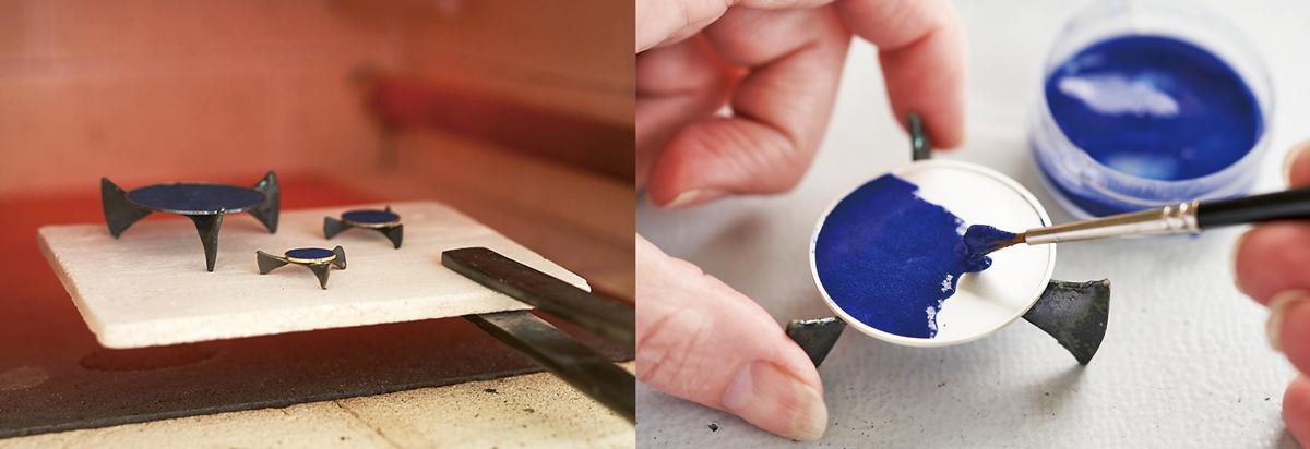 エナメル文字盤の製造工程